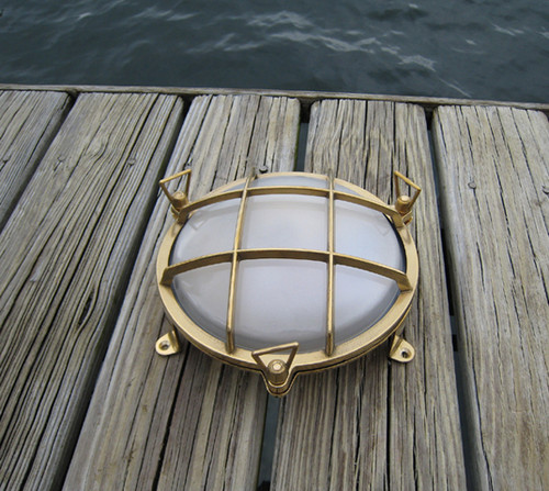 brass round nautical light