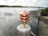 copper hooded dock light