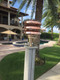copper hooded nautical dock light