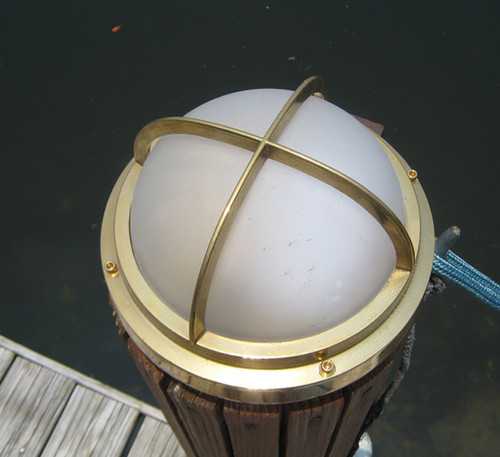 brass dock light