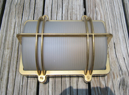 brass captain nautical light