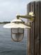 brass nautical wall mounted dock light