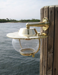 brass nautical wall sconce