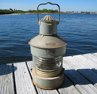large galvanized ship light