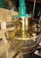 vintage brass cage ship light