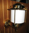 European brass wall nautical light
