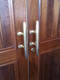 brass door handle cleats
