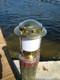 European brass piling nautical light