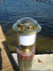 European brass piling nautical light