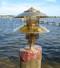 bronze pagoda dock light