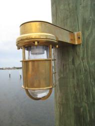 nautical turtle dock light sconce