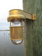 shielded brass marine dock light