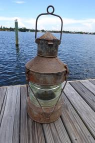 Vintage XXL galvanized steel ships anchor lantern