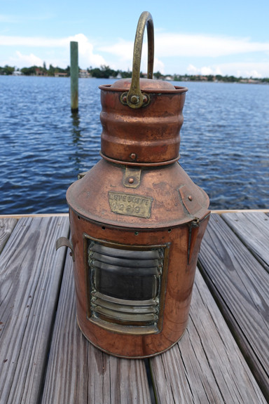 copper Meteorite signal ship lantern