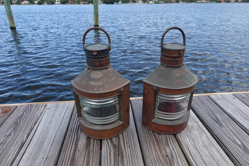 Copper Vintage ship's running lights