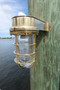 brass dock light sconce
