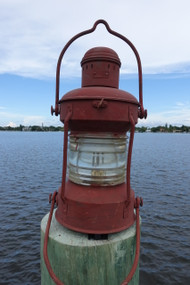 original ship's lantern.  Nautical decor marine lantern.