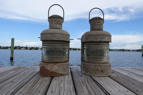 rustic pair of ship lights
