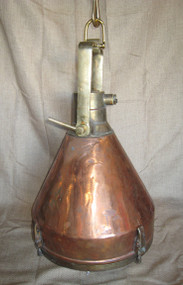 vintage smooth copper cargo ship light