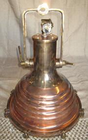 Copper nautical hanging ship light