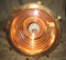 Polished inside of copper nautical hanging spot light