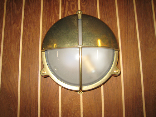 brass half moon nautical light