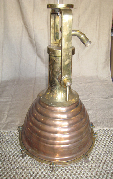 Vintage copper cargo ship hanging light