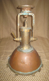Vintage copper nautical fox light