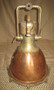 Vintage copper nautical decor ship light