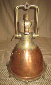 Vintage copper nautical decor ship light