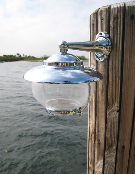 chrome nautical dock light
