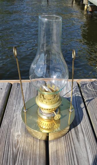 brass nautical decor oil pod