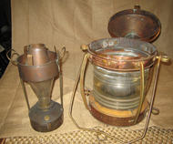copper nautical ship lantern