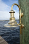 brass marine grade dock light with goose neck