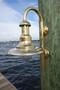 brass marine grade dock light with goose neck