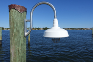 Aluminum wall/piling mounted wharf light