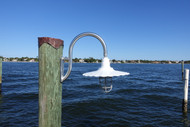 Wharf pole marina dock light