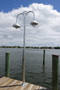 Anodized marine grade wharf pole lights