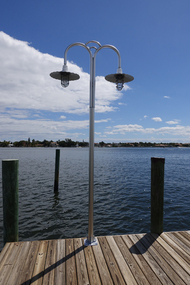 Marina dock lighting wharf pole