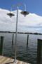 Radial wave marina lighting wharf pole