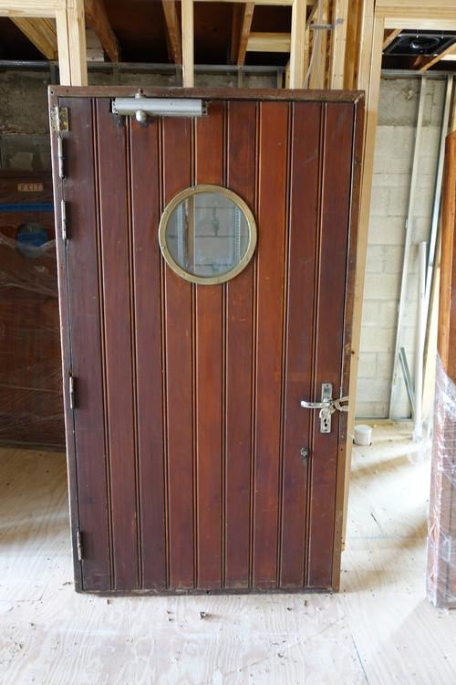 mahogany antiqued ship door