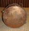 Copper nautical light bottom view
