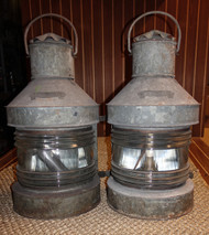 pair of vintage nautical lanterns