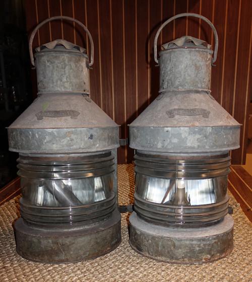 pair of vintage nautical lanterns