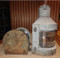 vintage nautical lights in rustic condition