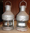 Vintage pair of old nautical ship lights
