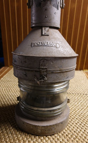 "Vintage ""Towing"" nautical masthead ship's lantern"