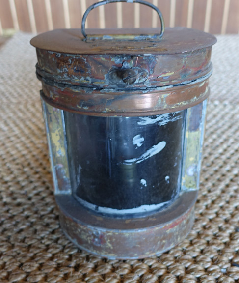 Vintage Tung Woo copper ships light