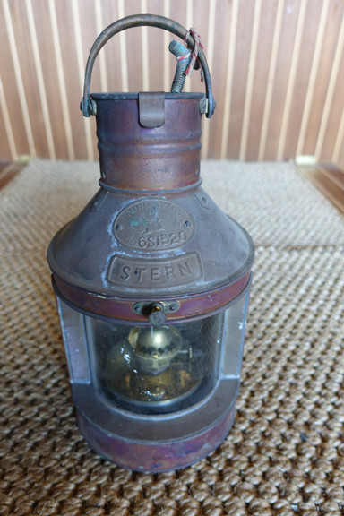 Original copper ship light