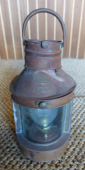 Hope Lee copper nautical ship lantern.